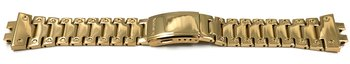 Casio brazalete de acero inoxidable dorado superficie...